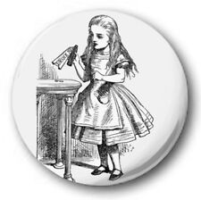 "EAT ME, DRINK me - 25mm 1"" Button Badge - Novelty Cute Alice in Wonderland"