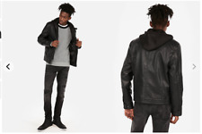 Express leather system moto jacket Men  Size XS