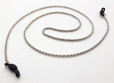 GLASSES NECK ROPE CHAIN CORD SILVER COLOUR METAL LINKS LANYARD BOXED 4227786