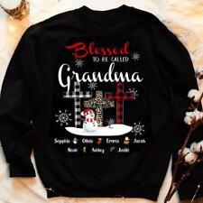 Personalized Shirt, Custom Grandkids' Name Shirt, Blessed To Be Called Grandma