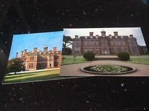 Postcards -:Sudbury Hall, Derbyshire  north & south entrances new unused