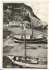 160788 NAPOLI ISCHIA - SANT'ANGELO - BARCHE  Cartolina FOTOGRAF. viaggiata 1952