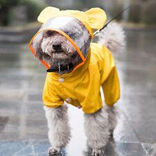 Cute Cartoon Pet Dog Raincoat Jumpsuit Puppy Clothes Wateproof Cat Rain Coat New