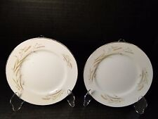 "Fine China of Japan Golden Harvest Dinner Plates 10 1/4"" Set of 2"