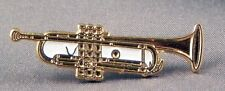 GOLD TRUMPET - PIN BADGE - ORCHESTRA COUNTRY MUSIC BAND JAZZ RHYTHM BLUES 158