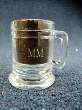 """Beer Mug Shot Glass With The Initials MM 2.25"""" (1023)"""
