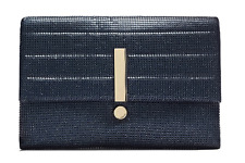 Mimco Genuine Original EXCLAMATION ENVELOPE Lg Pouch Clutch Ink Blue Mesh BNWT