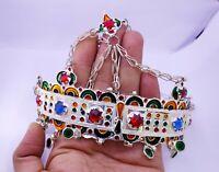 """TAWENZA"" Bijoux de tête Amazigh Maroc Ancien-Head jewelry Amazigh Morocco Old"