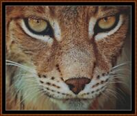 THE LYNX cross stitch pattern PDF (point de croix)