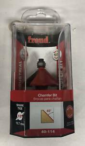"Freud 1-5/8"" (Dia.) Chamfer Bit with 1/2"" Shank (40-114)"