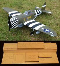 """76"""" wingspan P-47D Thunderbolt Razor Back R/c Plane short kit/semi kit and plans"""