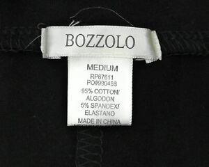 Bozzolo Shorts Juniors High Waist Black with White Trim