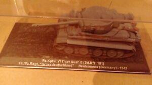 WWII Diecast Panzer German army VI Tiger Tank 1943 1/72 Altaya