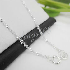925 Sterling Silver 18inch Twisted Singapore Byzantine Chain Necklace- M702