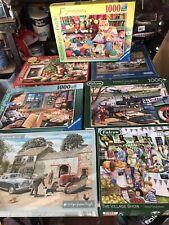 Falcon Ravensburger & Gibsons 7 X 1000 Piece Jigsaw Bundle (Ex Quality Puzzles)