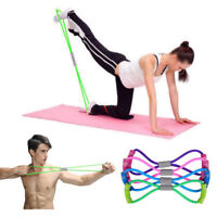 Arm Resistance Training Bands Rope Tube Stretch Exercise For Yoga Pilates Gym