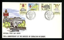 Postal History FDC #618-621 Gibraltar 1992 Religion 150th Diocese Anniversary