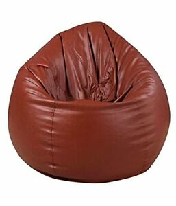 XXL Brown Tear Drop Bean Bag Cover Without Fillers