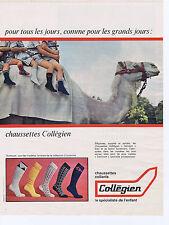 PUBLICITE ADVERTISING 064 1967 Collégien chaussettes enfants
