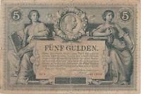 AUSTRIA 5 GULDEN FORINT 1881 USED