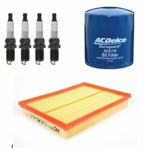 Air Oil filter Spark Plug ACDelco Service Kit suitable for HOLDEN Barina TK 2006