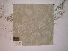 "Lee Jofa ""Andrew Embroidery"" novelty floral fabric remnant, color flax"