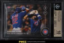 2016 Topps Now Chicago Cubs 100 Win Season #508 BGS 10 PRISTINE