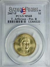 2007-P THOMAS JEFFERSON $1 SATIN FINISH POSITION B PCGS SP68