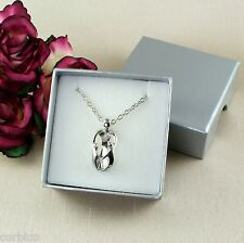 N5 Silver Metal Mother and Two Children Necklace & Pendant - Gift boxed