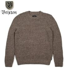 Brixton Neptune Sweater Woven Jumper Shale Brown Gang Of Brixton Size Large BNWT