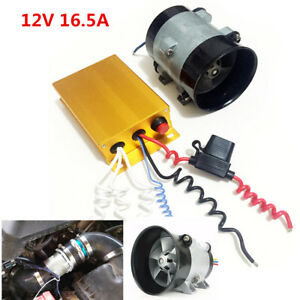 12V 16.5A Car Electric Turbine Power Turbo Charger Booster +Automatic Controller