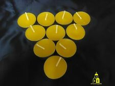 48 pcs 100% Pure Natural Beeswax Tea Light Candles Handmade Free Shipping!