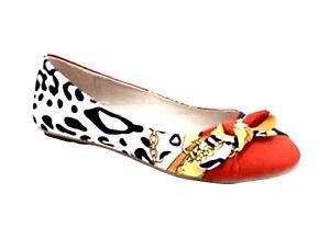 Bumper Orange Multi Ballerina Flat Shoes US SIzes 6 - 10 Style # Zaire-18