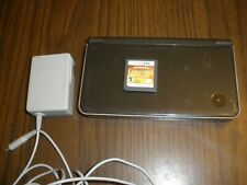 NINTENDO BLACK DS XL CONSOLE WORKS WITH ADAPTER AND CARD GAME CARTRIDGE