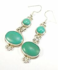 Turquoise Cabochon Natural Fine Gemstone Earrings