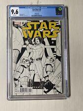STAR WARS # 16 Sketch Variant Cover CGC 9.6 Marvel 2015 Princess Leia