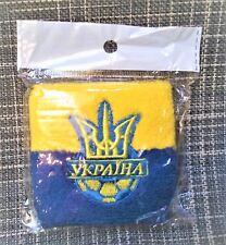 Cotton Wristband Sweatband yellow-Blue Ukrainian with trizub