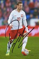 Grzegorz Krychowiak  Polen  Fußball  Foto original signiert - 274379