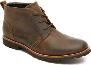 Rockport Charson Lace Up Ankle Boot (Men's) - Dark Brown Leather - NEW