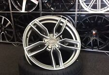 """18"""" Satin grey Audi S3 Style alloy wheels & 225/40/18 tyres for Audi A3."""