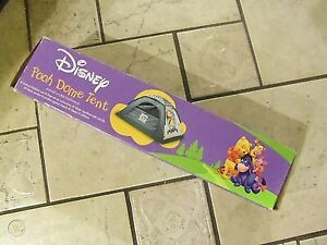 """DISNEY Winnie the Pooh Dome Camping Tent Rare 6""""x4""""x3"""" Indoor Outdoor"""