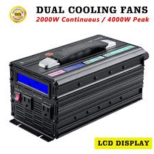 Novopal 2000W Power Inverter DC 12v to AC 110v with Big LCD Display (Peak 4000W,