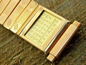Vintage NOS Unused Stainless Steel Calender Expansion Watch Band 16mm-21mm Mens