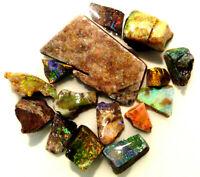 Australian Rough Opal Parcel  treated Andamooka Matrix Opal  97.9ct (2972)