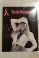Terri Runnels Autographed WWE WWF Superstar 8x10 photo  Breast Cancer ribbon