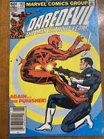 Daredevil #183 (Jun 1982, Marvel) Classic Punisher Cover! Miller Cover/Art!
