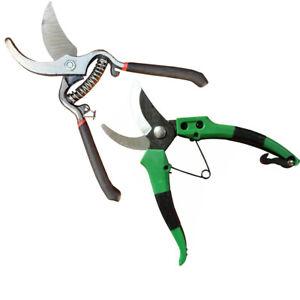 Bypass Pruning Shears Garden Hand Pruner Secateurs Cutter Plants Strong Tool