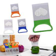 Stainless Steel Onion Cutter Slicer Holder Gadget Vegetable Fruit Kitchen Tool
