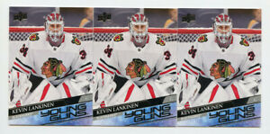 Lot of (3) Kevin Lankinen 2020-21 Upper Deck Young Guns #497 Rookie Cards MRE100