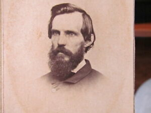 Civil War US Volunteers Commissary Dept. Captain from Wisconsin cdv photograph
